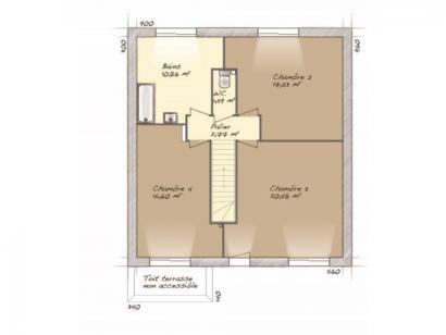 Plan de maison Urbaine GI 9 R + 1 4 chambres  : Photo 2