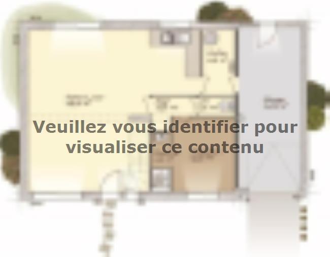 Plan de maison Aménagé 100 : Vignette 1