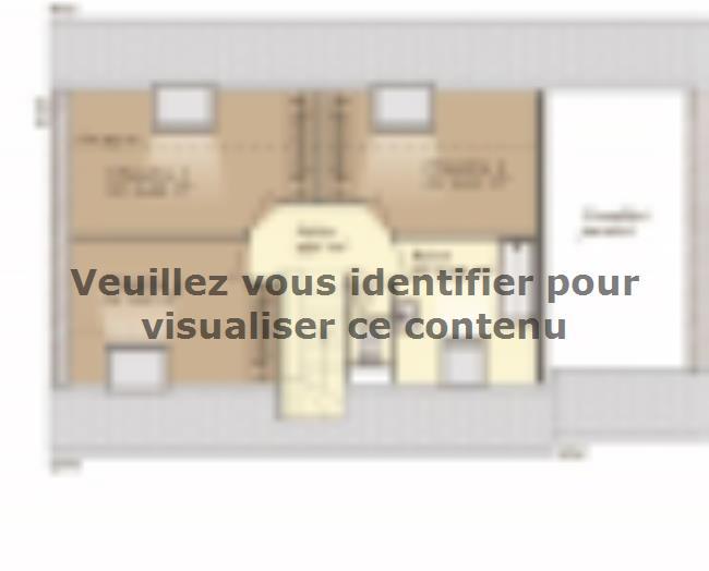 Plan de maison Aménagé 100 : Vignette 2