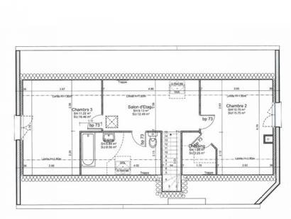 Plan de maison ETG_R_GI_101m2_3ch_P14090 3 chambres  : Photo 2