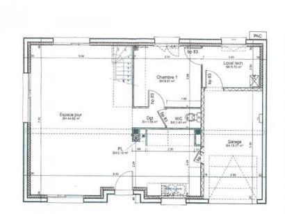 Plan de maison ETG_R_GI_113m2_3ch_P1641 3 chambres  : Photo 1