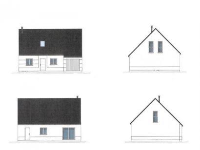 Plan de maison ETG_R_GI_98m2_4ch_P3026 4 chambres  : Photo 1