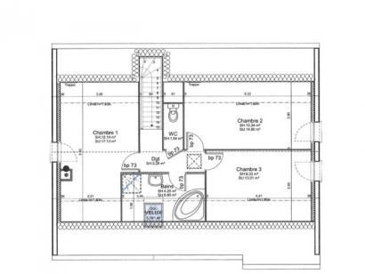 Plan de maison ETG_R_GI_98m2_4ch_P3026 4 chambres  : Photo 3