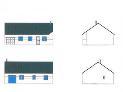 Plan de maison PLP_R_GI_84m2_3ch_P14868 3 chambres  : Photo 1