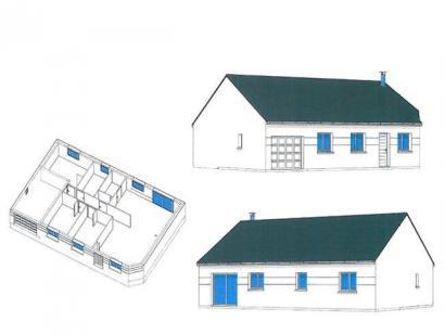 Plan de maison PLP_R_GI_84m2_3ch_P14868 3 chambres  : Photo 2