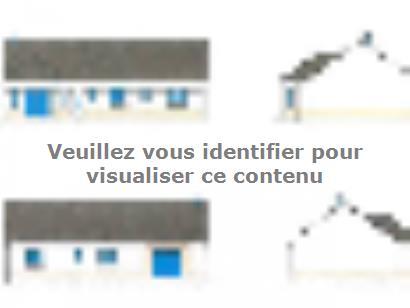 Plan de maison PLP_BW_SG_111m2_3ch_P6176 3 chambres  : Photo 1