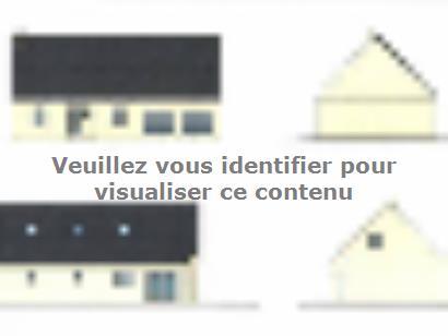 Plan de maison ETG_R_GI_CA_75m2_1ch_P13319 1 chambre  : Photo 1