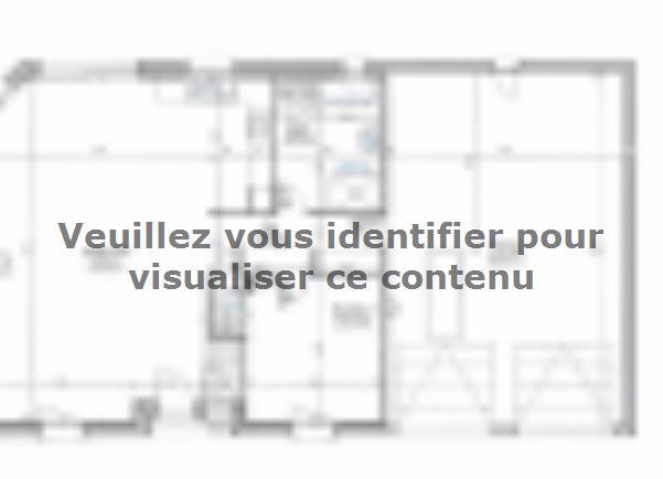 Plan de maison ETG_R_GI_CA_75m2_1ch_P13319 : Vignette 2