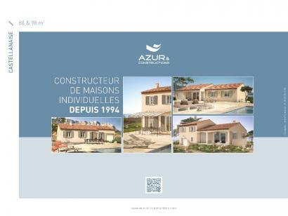 Plan de maison CASTELLANAISE 88 3 chambres  : Photo 2
