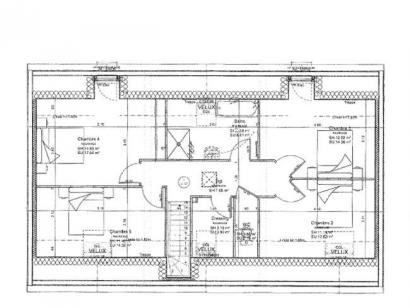 Plan de maison ETG_R_GI_146m2_5ch_P13522 5 chambres  : Photo 2