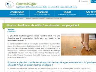 PLANCHER CHAUFFANT + CHAUDIÈRE À CONDENSATION : LE COUPLAGE IDÉAL