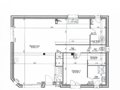 Plan de maison ETG_R_SG_120m2_4ch_P2925 4 chambres  : Photo 1