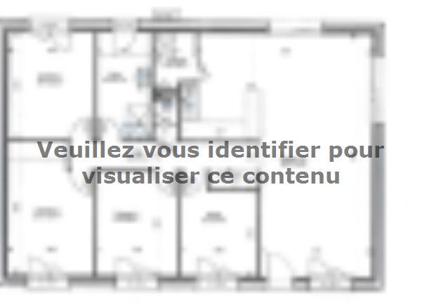 Plan de maison PLP_R_SG_92m2_3ch_P6200 : Vignette 1