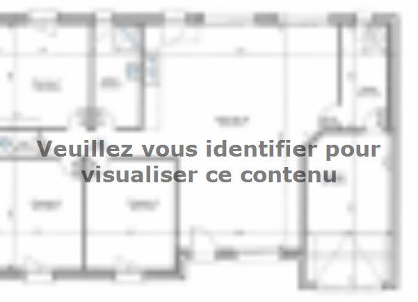 Plan de maison PLP_R_GI_96m2_3ch_P1661 : Vignette 1