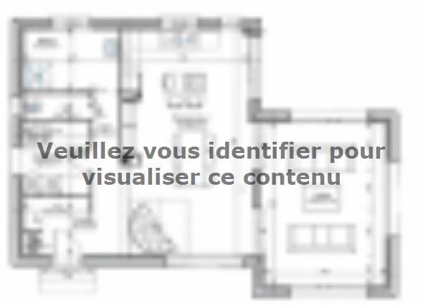 Plan de maison ETG_TT_SG_115m2_3ch_P13942 : Vignette 1