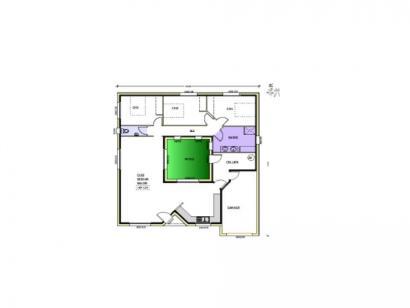 Plan de maison Avant projet Charron - 4 chambres - 107m² 4 chambres  : Photo 1