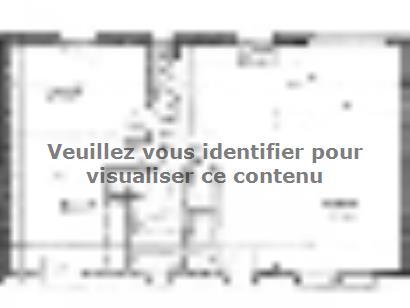 Plan de maison ETG_R_SS_CA_81m2_2ch_P13603 2 chambres  : Photo 1