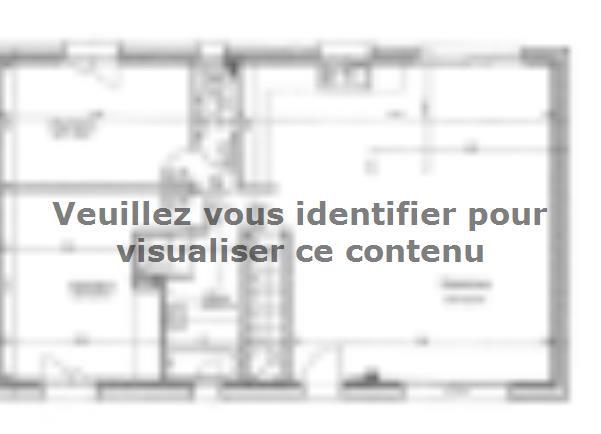 Plan de maison ETG_R_SS_CA_81m2_2ch_P13603 : Vignette 1