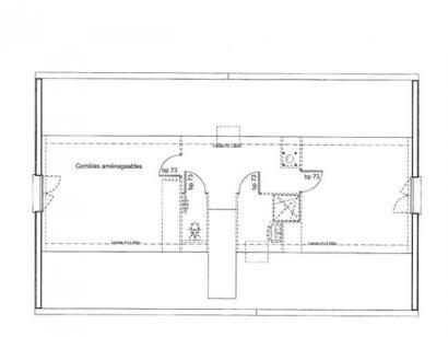 Plan de maison ETG_R_SS_CA_81m2_2ch_P13603 2 chambres  : Photo 2