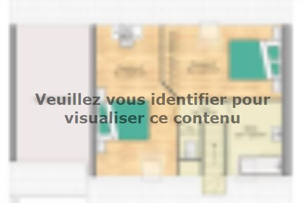Plan de maison Open Nord CA GA accès Nord 76 so design 3 chambres  : Photo 2