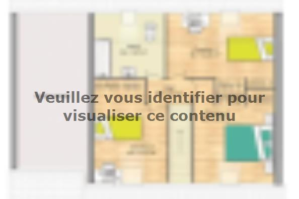 Plan de maison Open Nord CA GA accès Nord 89 so design 4 chambres  : Photo 2