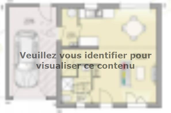 Plan de maison Open Nord ETG GA accès Nord 81 so design 3 chambres  : Photo 1
