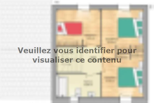 Plan de maison Open Nord ETG GA accès Nord 81 so design 3 chambres  : Photo 2