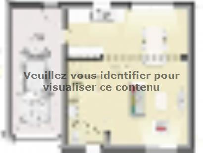 Plan de maison Open Nord ETG GA accès Nord 91 so design 4 chambres  : Photo 1