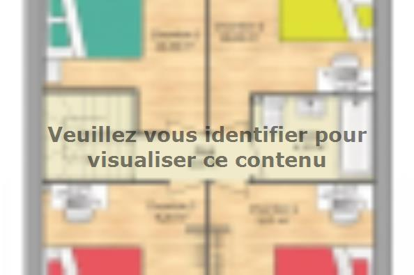 Plan de maison Open Nord ETG GA accès Nord 91 so design 4 chambres  : Photo 2