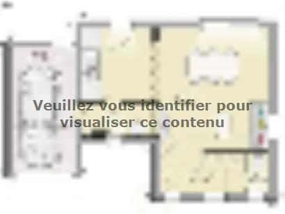 Plan de maison Open Nord ETG L GA accès nord 90 so design 3 chambres  : Photo 1