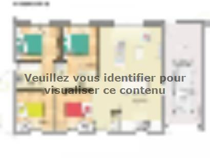 Plan de maison Open Nord PP GA accès Nord 92 so design 4 chambres  : Photo 1