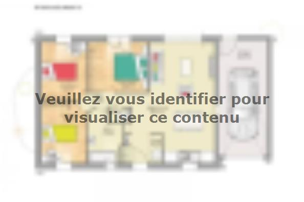 Plan de maison Open Nord PP GA accès Nord 73 so design 3 chambres  : Photo 1