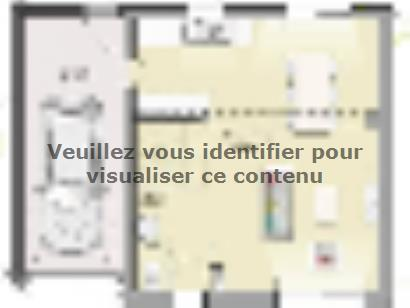 Plan de maison Open Nord ETG GA accès Sud 91 so design 4 chambres  : Photo 1