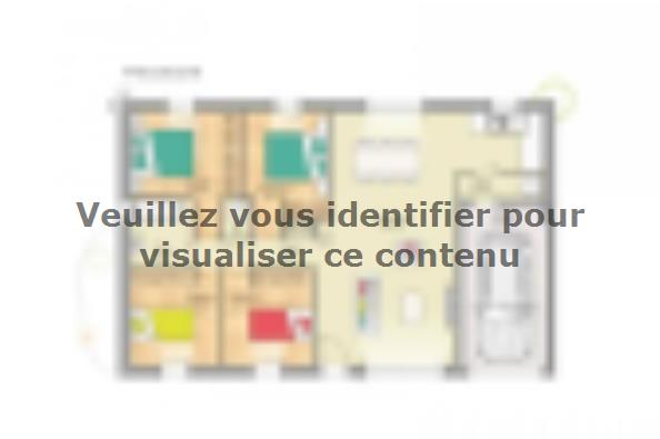 Plan de maison Open Nord PP GI accès Sud 93 so design 4 chambres  : Photo 1