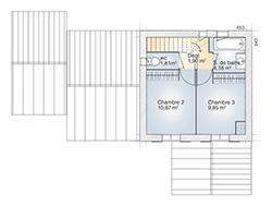 Tourmaline plan 90 étage