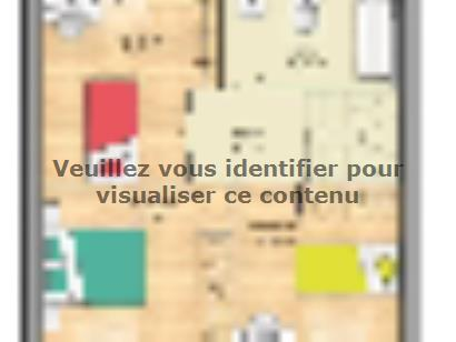 Plan de maison Open Nord ETG GI accès nord 83 so chic 3 chambres  : Photo 2