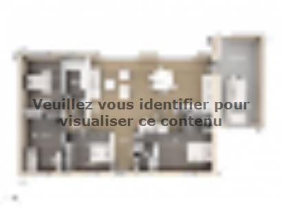 Plan de maison Amandine GA V1 120 Design 4 chambres  : Photo 1
