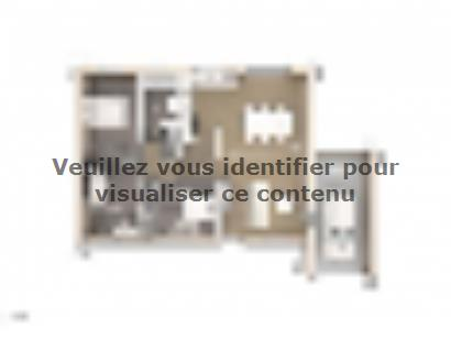 Plan de maison Amandine GA V2 80 Design 3 chambres  : Photo 1