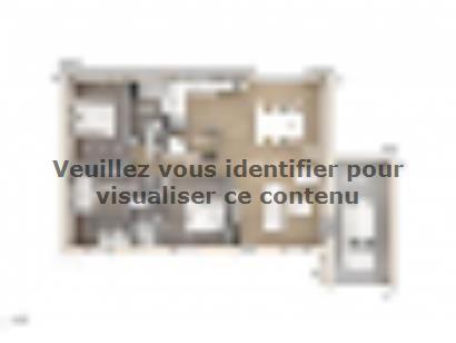 Plan de maison Amandine GA V2 90 Design 3 chambres  : Photo 1