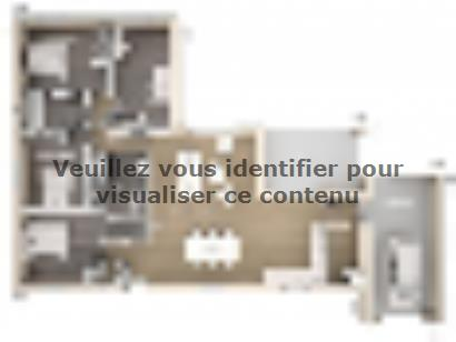 Plan de maison Laura 130 Design 4 chambres  : Photo 1