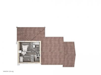 Plan de maison Manon 120 Tradition 3 chambres  : Photo 2