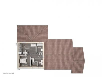 Plan de maison Manon 160 Tradition 4 chambres  : Photo 2