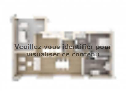 Plan de maison Patio 100 Design 2 chambres  : Photo 1