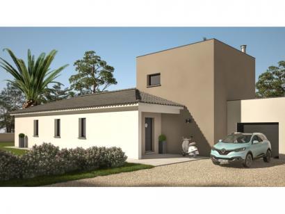 Modèle de maison Cloé 95 Design Toit plat 3 chambres  : Photo 2