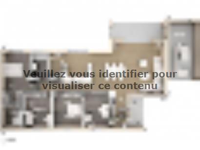 Plan de maison Cloé 150 Design Toit plat 4 chambres  : Photo 2