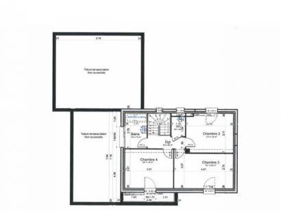 Plan de maison ETG_TT_GA_119m2_4ch_P5911 4 chambres  : Photo 1