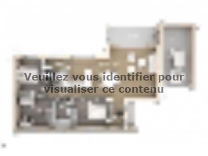 Plan de maison Cloé 95 Design Toit 4 pentes étage 3 chambres  : Photo 1