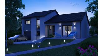 Vue Modèle de maison: CRISTAL contemporain