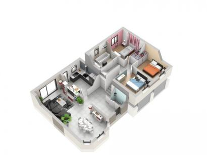 Plan de maison BORROMEE 5 chambres  : Photo 2