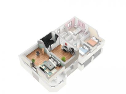 Plan de maison BORROMEE 5 chambres  : Photo 3